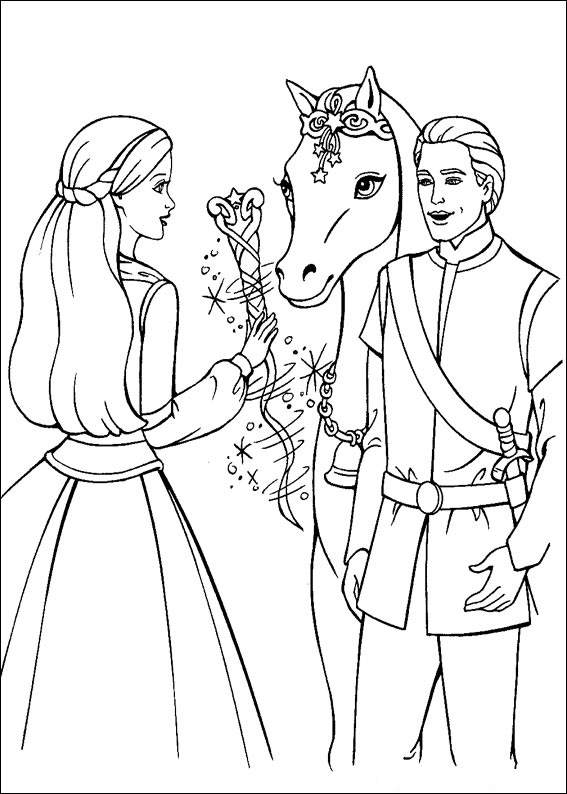 Barbie and The Magic Pegasus Children Coloring Pages 1