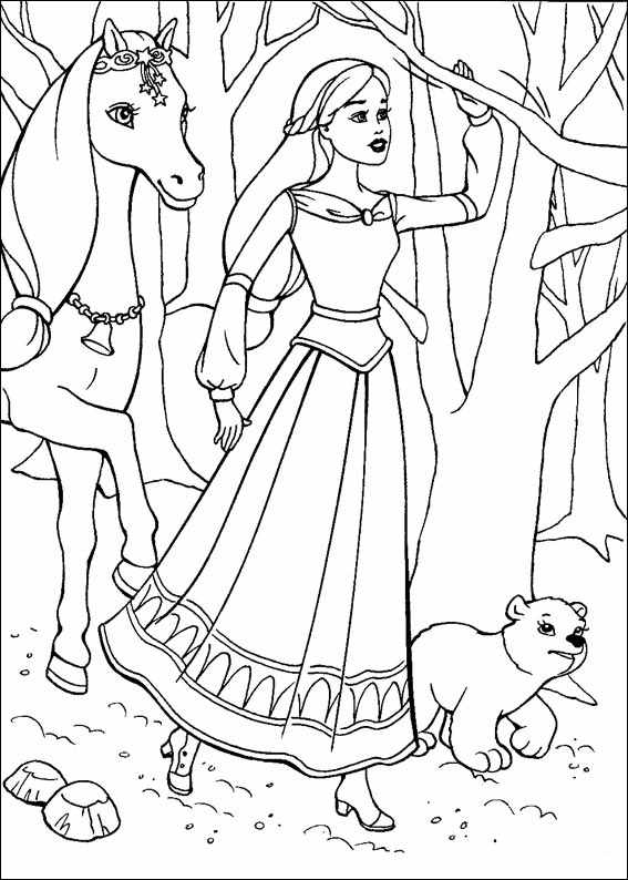 Barbie and The Magic Pegasus Children Coloring Pages 5