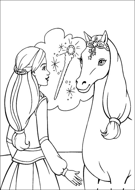Barbie and The Magic Pegasus Children Coloring Pages 6