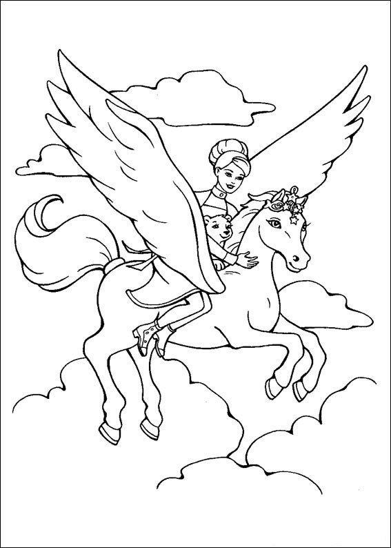 Barbie and The Magic Pegasus Children Coloring Pages 8