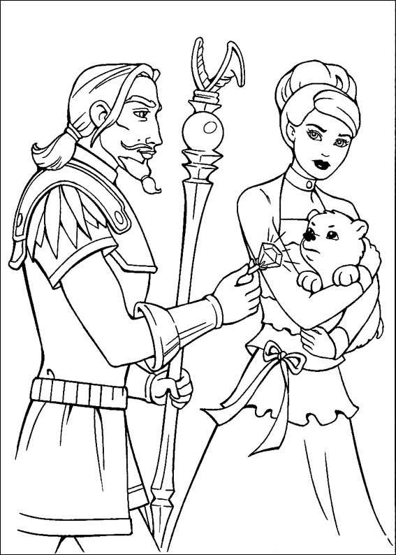 Barbie and The Magic Pegasus Children Coloring Pages 9