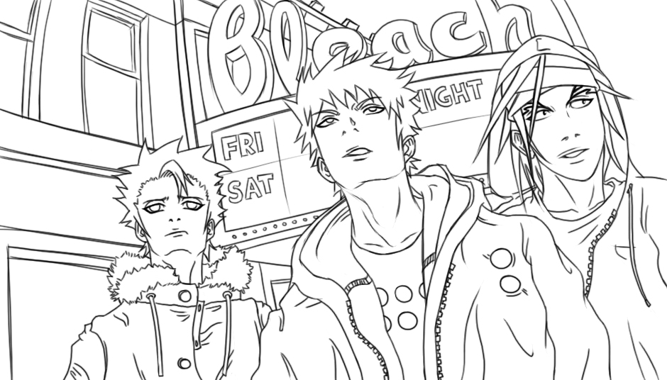 Bleach Children Coloring Pages 2