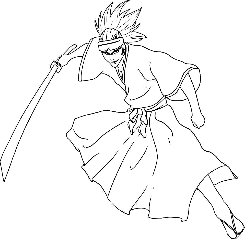 Bleach Children Coloring Pages 7