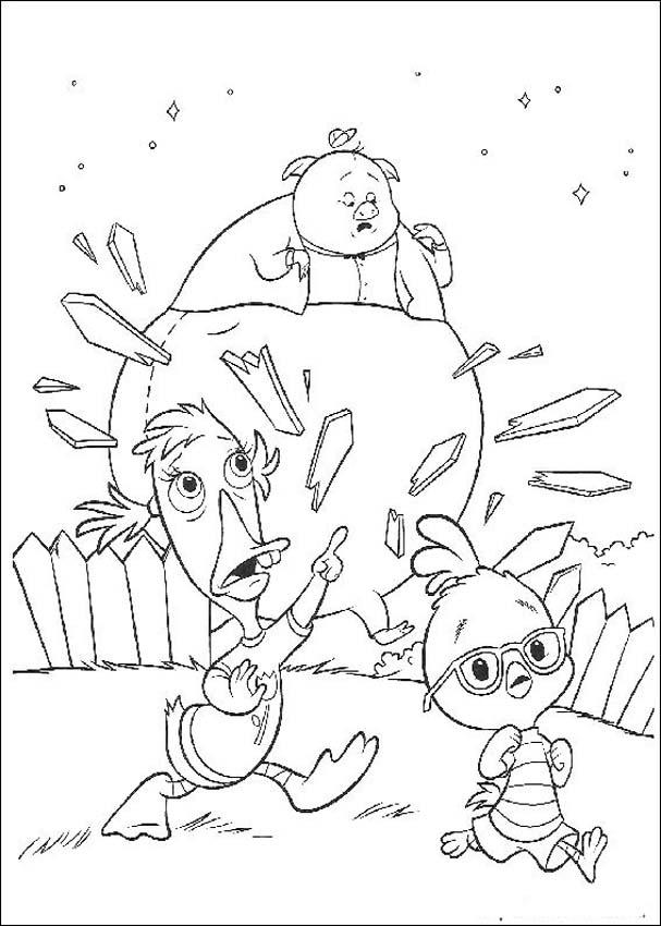 Chicken Little Children Coloring Pages 1