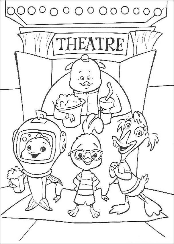 Chicken Little Children Coloring Pages 4
