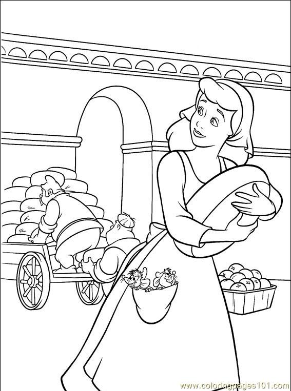 Cinderella 3 Children Coloring Pages 1