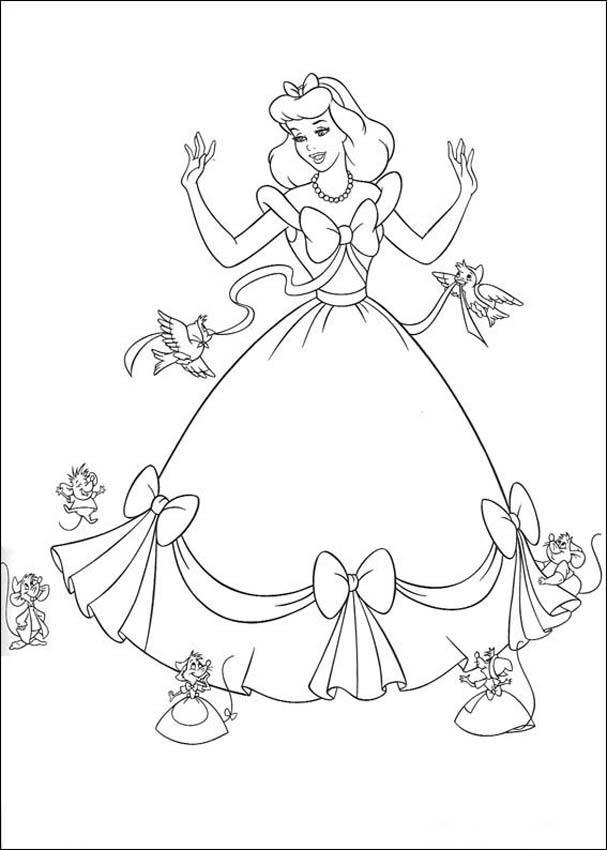 Cinderella 3 Children Coloring Pages 3