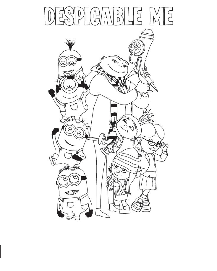 Despicable Me Children Coloring Pages 6