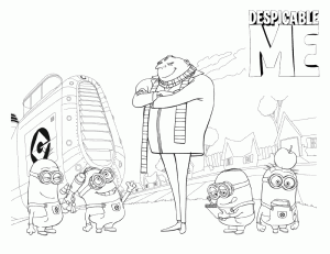 Despicable Me Children Coloring Pages 7