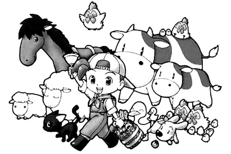Harvest Moon Children Coloring Pages 1