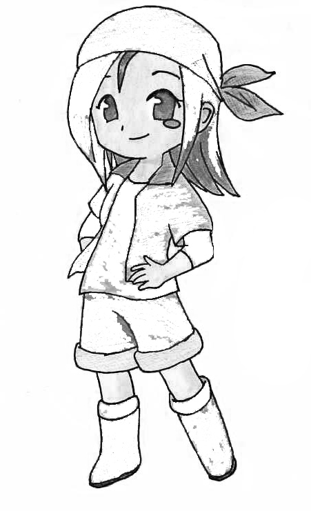Harvest Moon Children Coloring Pages 7