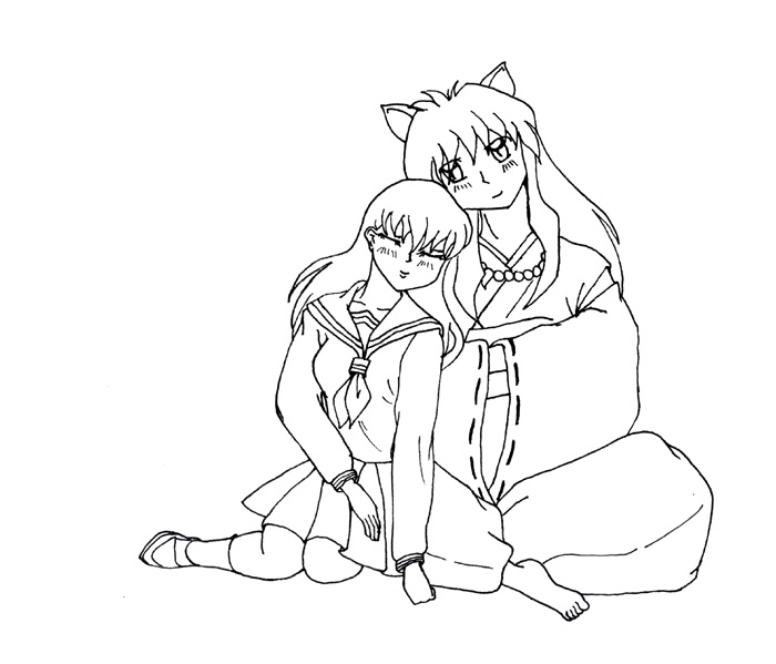 Inuyasha The Final Act Children Coloring Pages 6