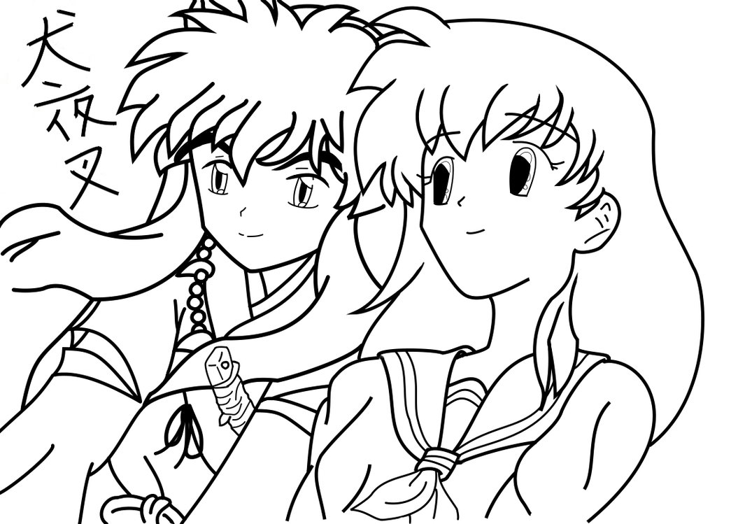Inuyasha The Final Act Children Coloring Pages 8