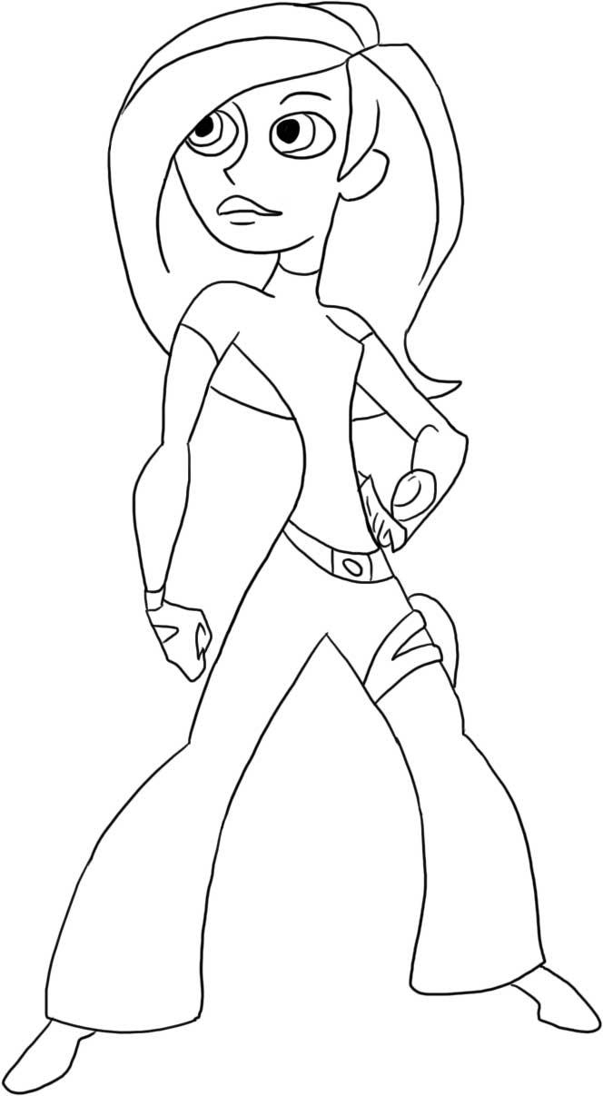 Kim Possible Children Coloring Pages 1