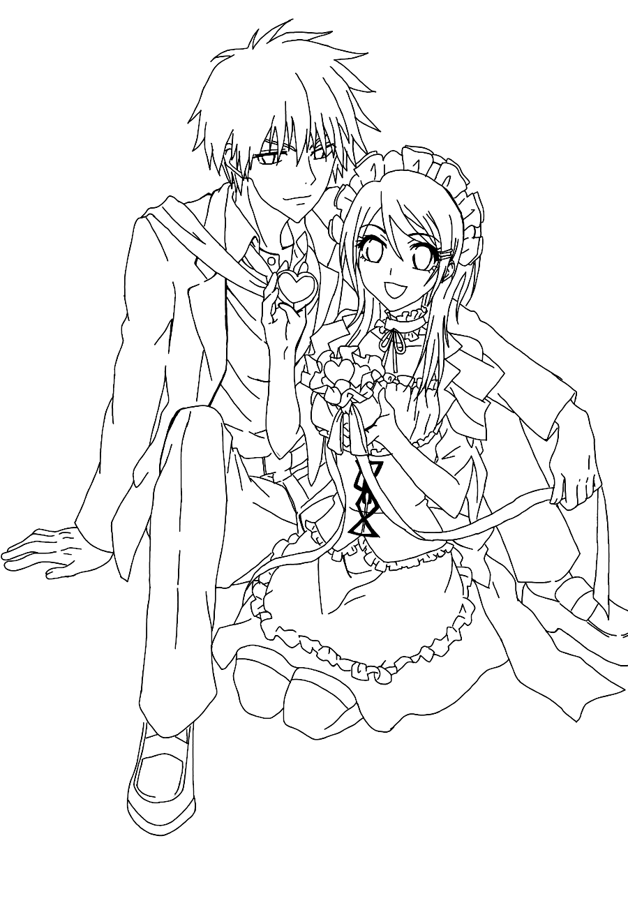 Maid Sama Children Coloring Pages 7