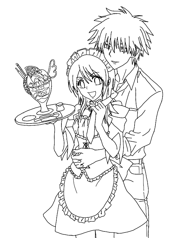 Maid Sama Children Coloring Pages 8