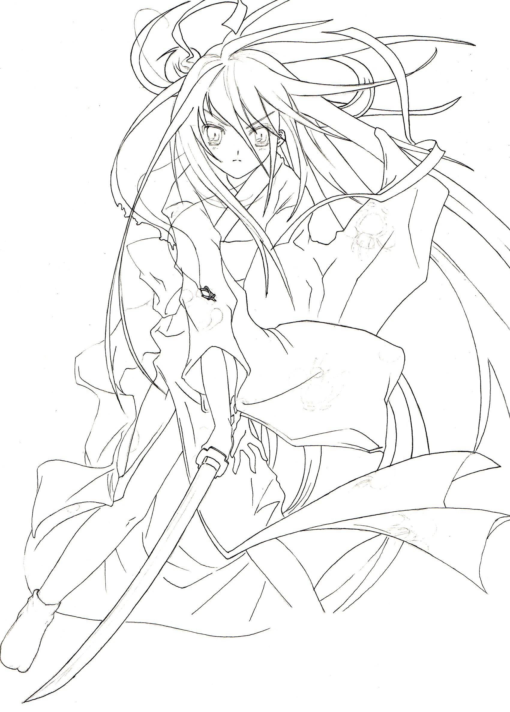 Shakugan No Shana II Children Coloring Pages 3