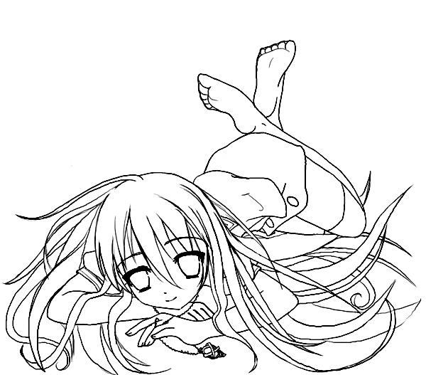 Shakugan No Shana II Children Coloring Pages 4