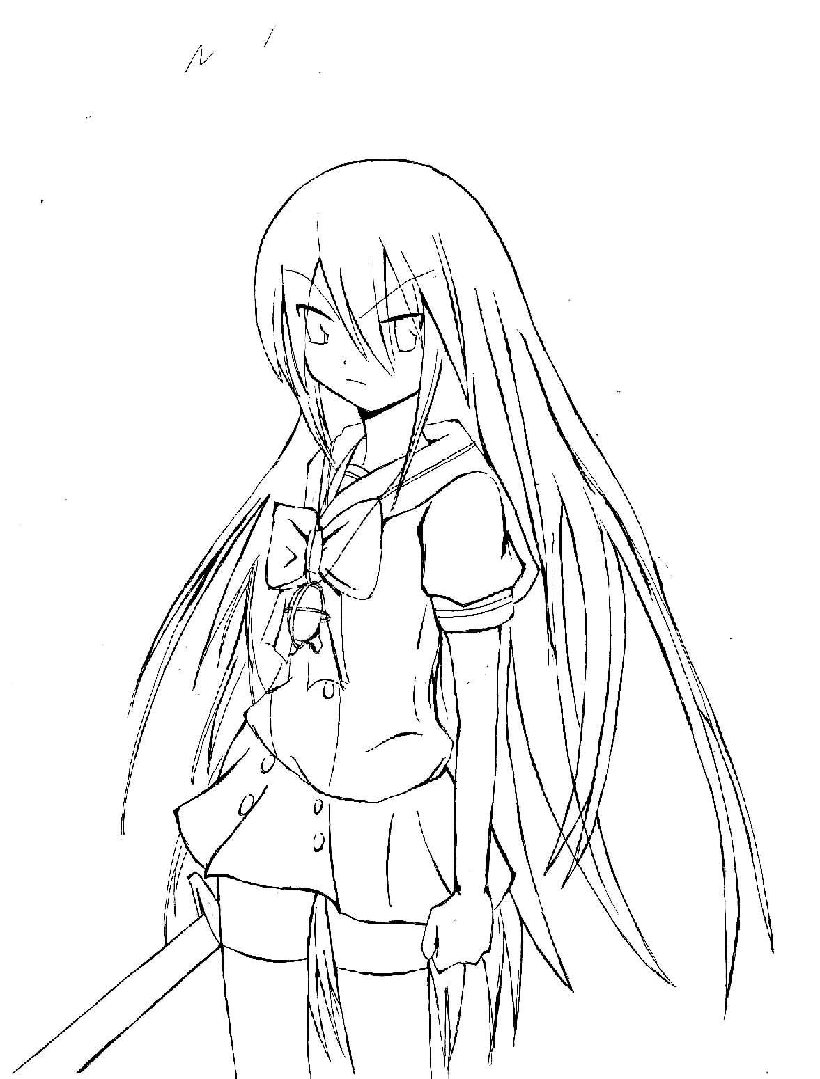 Shakugan No Shana II Children Coloring Pages 5
