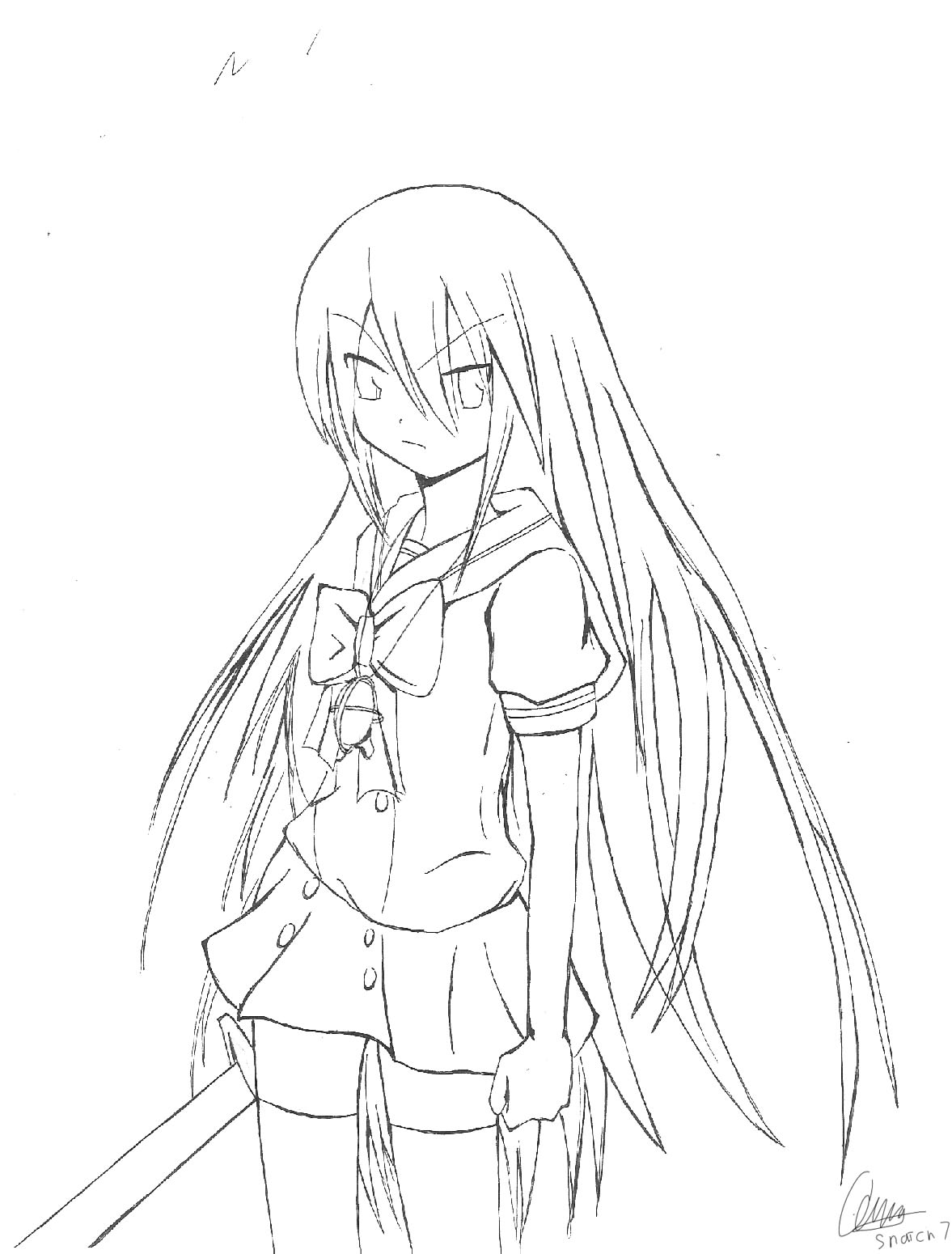 Shakugan No Shana II Children Coloring Pages 6