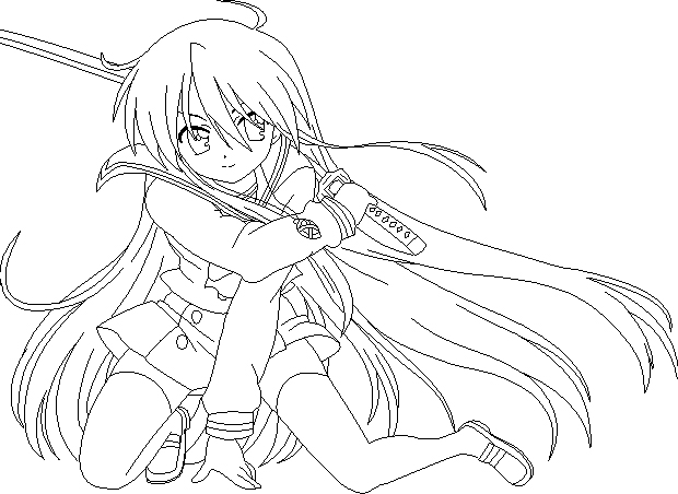 Shakugan No Shana II Children Coloring Pages 8