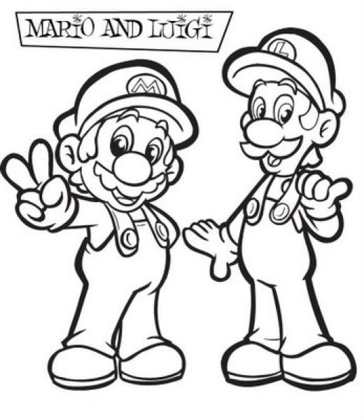 Super Mario Children Coloring Pages 1