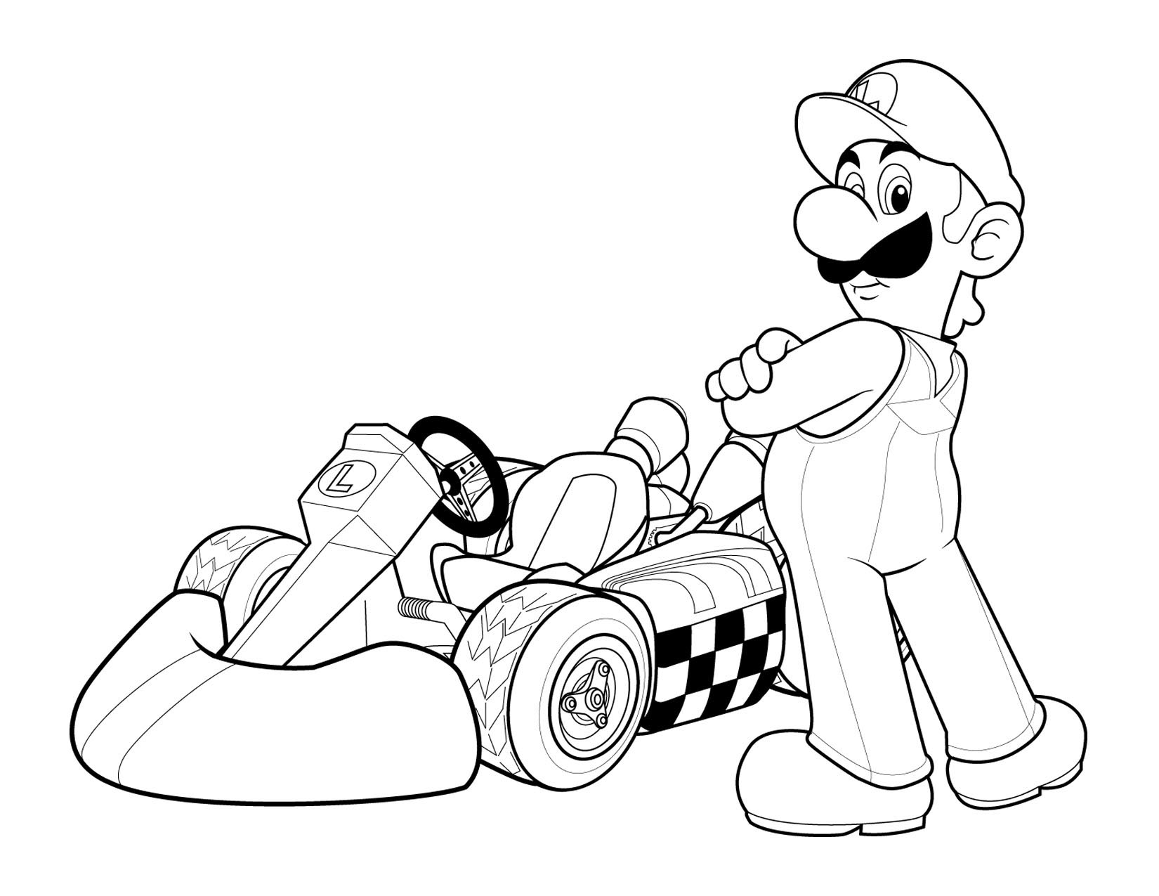 Super Mario Children Coloring Pages 2