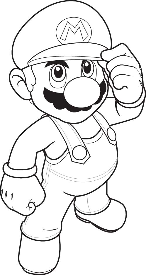 Super Mario Children Coloring Pages 3