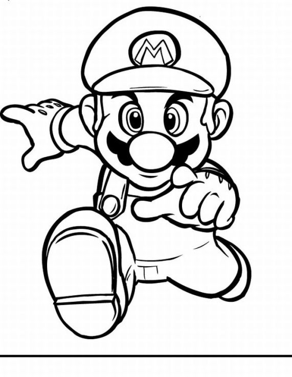 Super Mario Children Coloring Pages 5