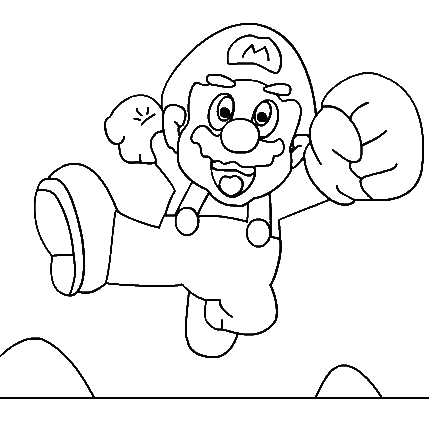 Super Mario Children Coloring Pages 7