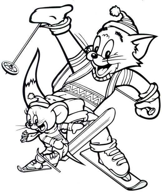 Tom and Jerry The Movie Children Coloring Pages 4